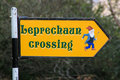 Leprechaun Crossing Sign, Ireland Royalty Free Stock Photo