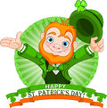 Leprechaun Greeting Stock Images