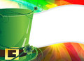 Leprechaun hat  and  rainbow background Stock Photography