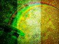 Leprechaun Hat Rainbow Grunge Flag Background Royalty Free Stock Photo