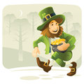 Leprechaun this is hilarious his wealth to the bank so reliable Royalty Free Stock Photography