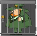 Leprechaun In Jail Royalty Free Stock Images