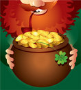 Leprechaun on Patrick's Day Stock Photo