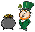 Leprechaun pot of gold Stock Photography