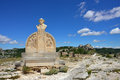 Les baux monument of charloun dou paradou lex de provence france jul famous provencal bard he is considered to be one pronounce s Royalty Free Stock Photo