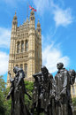 Les bourgeois de calais london england june th sculpture by auguste rodin completed in in front of victoria tower london england Royalty Free Stock Photo