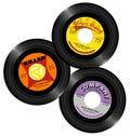 Les conceptions record de label du vintage ont placé Photographie stock