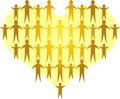 Les familles forment un Heart/ai d'or Photo libre de droits