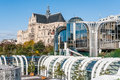 Les halles and saint eustache paris france october the church seen from the commercial center in paris france Stock Photo