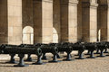 Les invalides army museum in paris france cannons Stock Photo