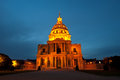 Les invalides the national residence of the invalids at night paris france Royalty Free Stock Images