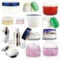 Les produits de beauté écrème Images libres de droits