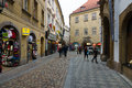 Les rues de vieux prague boutique de souvenirs Photo stock