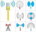 Les signes dirigent la radio Photo stock