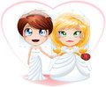 Lesbian Brides In Dresses Getting Married Stock Image