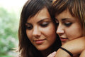 Lesbian couple portrait of two pretty young women Royalty Free Stock Photo