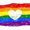 Lesbian, gay, bisexual, transgender LGBT pride heart. Rainbow fl Royalty Free Stock Photo