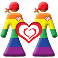 Lesbian Graphic - Two Girls - Rainbow Royalty Free Stock Photos