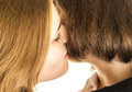 Lesbian kissing Royalty Free Stock Photos