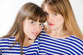 Lesbian love joint portrait of two young women Stock Photography