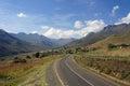 Lesotho Mountian street Royalty Free Stock Photo