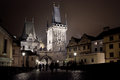 Lesser bridge tower di charles bridge in th di praga karluv più Fotografia Stock Libera da Diritti