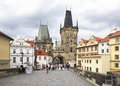 Lesser Town Bridge Tower. Charles Bridge Royalty Free Stock Photo