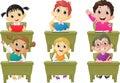 Lesson activities school children in classroom