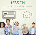 Lesson Global Connectivity Student Graphic Concept Royalty Free Stock Photo