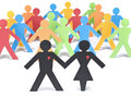 Let�s get together Royalty Free Stock Photo