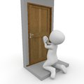 Let me in critical situations we ask others to keep te door open for us Royalty Free Stock Photography