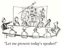 Let me present the speaker for our meeting Stock Images