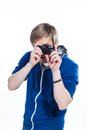 Let me take your picture Royalty Free Stock Photo
