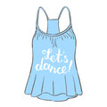 Let s dance. Brush hand lettering. Royalty Free Stock Photo