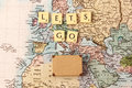 Let's go travel the world Royalty Free Stock Photo