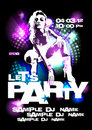 Let`s Party design template. Royalty Free Stock Photo