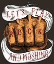 LET'S PLAY ROCK AND MOSHING Royalty Free Stock Photo