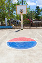 Let s play some basketball court on a sunny day in philippines Stock Image