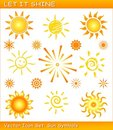 Let it shine / Vector sun icon set Stock Photo
