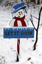 Let it snow sign in brooklyn Royalty Free Stock Image