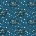 Let It Snow Snowflakes Seamless Pattern Royalty Free Stock Images