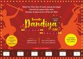 Let us fall in love with big dandiya night print ad template
