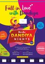 Let us fall in love with dandiya print ad template