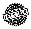 Let us Talk rubber stamp Royalty Free Stock Photo