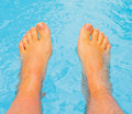 Let warm water caress my feet Royalty Free Stock Photography