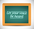 Let your voice be heard message illustration design graphic Stock Images