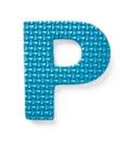 Letra azul P Fotos de archivo libres de regalías