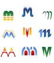 Letra M del alfabeto Foto de archivo libre de regalías
