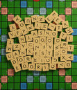 Letras aleatórias do scrabble Imagem de Stock Royalty Free