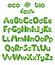 Letras do alfabeto em cores verdes Fotos de Stock Royalty Free